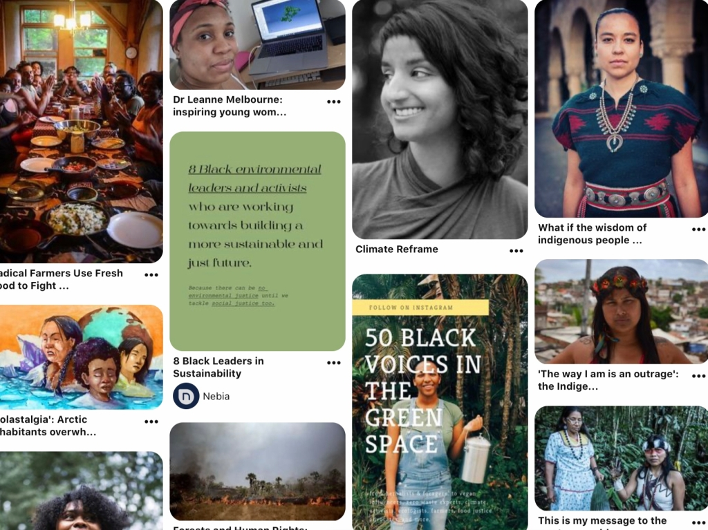Images and articles featuring Black or BIPOC Environmentalists